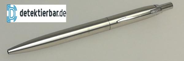 Edler Metallkugelschreiber matt Metall Kugelschreiber detektierbar einziehbar mit Clip