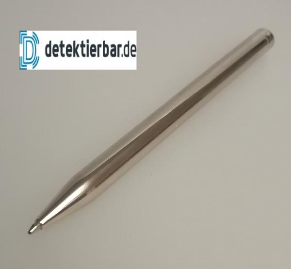 Eleganter Metall Kugelschreiber, Edelstahl, feststehend, glänzend