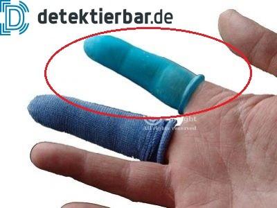 Fingerlinge komplett aus Gummi zum Schutz von verletzten Fingern VE á 25 Stück