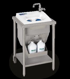 CleanTech 400 Handwaschsystem von Meritech mit integriertem Wasserhahn