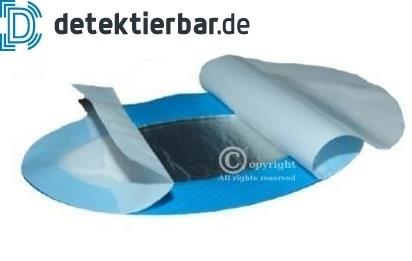 Blaue detektierbare Hydrogelpflaster für Brandwunden- 110x67mm / VE á 10 Stück