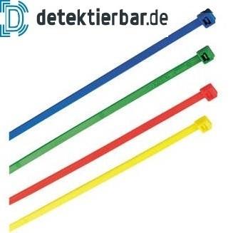 Kabelbinder detektierbar farbig 390x4,6mm 100 Stück