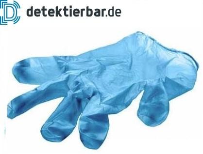 Einweghandschuh detektierbar Vinyl blau (100Stk.)