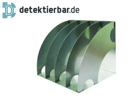 Organizer aus Edelstahl - 4-Fächer - geeignet für A4-Dokumente
