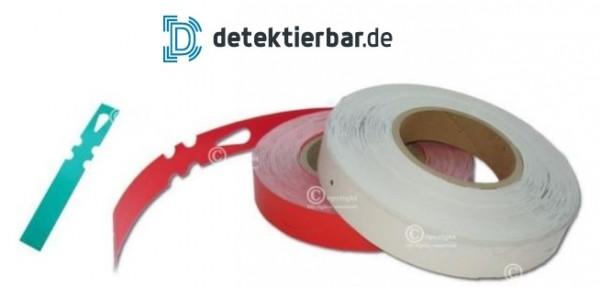 Detektierbare Papier-Tags Etiketten Labels 25x190mm - 500Stk. auf Rolle