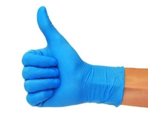 Einweg Nitrilhandschuhe Einweghandschuhe Nitril blau puderfrei 100 Stk.