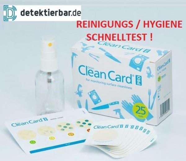 Clean Card® PRO - Starter-Kit, Hygienetest, Hygiene Test, Hygiene Kontrolle, 25 Streifen (IFS, HACCP