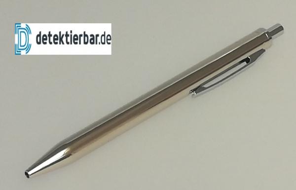 Eleganter Kugelschreiber, Edelstahl, einziehbar, glänzend