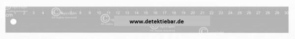 Edelstahl Lineal skaliert 30 cm lang detektierbar