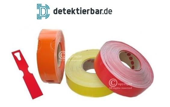 Detektierbare Papier-Tags Etiketten Labels 50x279mm - 500Stk. auf Rolle