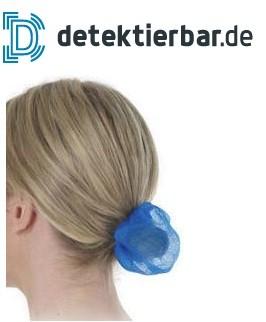 Zopfnetz detektierbar - detektierbares Haarnetz - Zopf-Netz - blau - VE=25 Stück