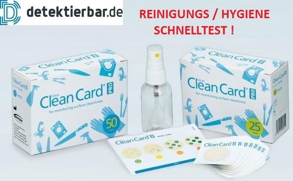 Clean Card® Orion KOMBI-Pack Hygienetest Pack á 75 Tests