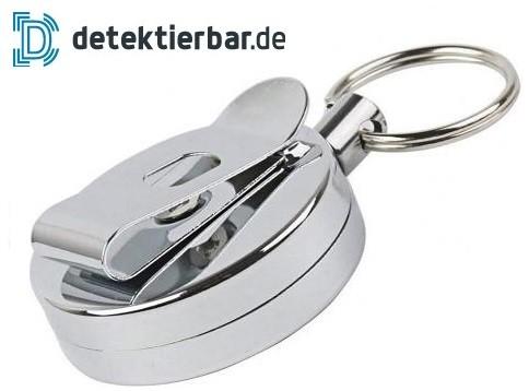 Jojo Schlüsselband Metall - detektierbar / magnetisch - außen kunststofffrei 85cm