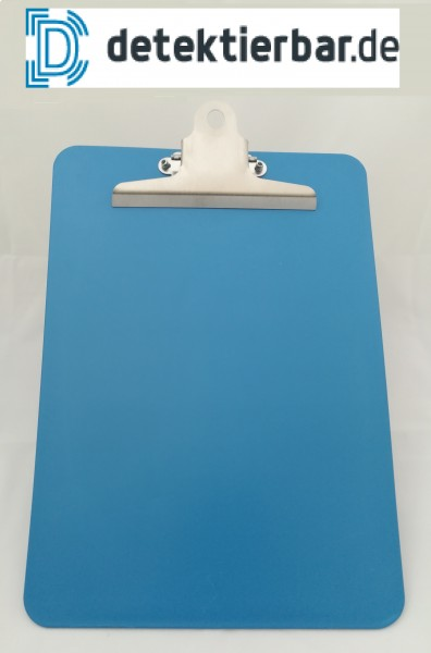 Klemmbrett / Schreibplatte aus Kunststoff detektierbar Starke Klemme A4 Clipboard