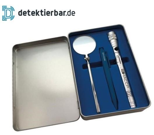 Auditor Set Auditorenset (Spiegel, Leuchte, Kugelschreiber)