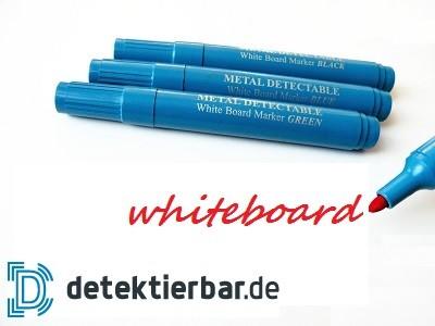 Whiteboard Marker Standard abwischbar detektierbar ohne Clip mit Kappe