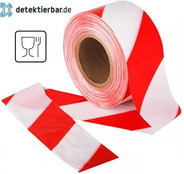 Flatterband lebensmittelunbedenklich Absperr-Band Absperrband 75 mm x 500m auf Rolle lebensmittelech