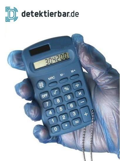 Taschenrechner Handformat 100x55mm detektierbar Rechner Calculator