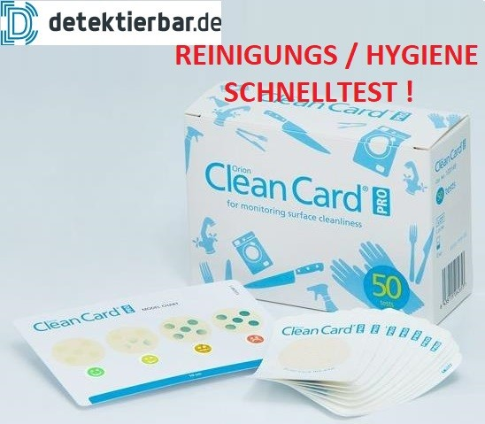 Clean Card® Orion PRO-Pack Hygienetest Pack mit 50 Tests