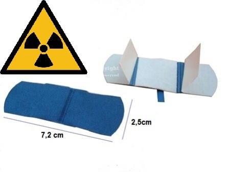 Detektierbare X-RAY Pflaster blau 7.2x2.5cm 100Stk. röntgen detektierbar