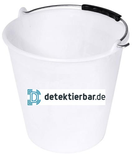 9 Liter Eimer Kunststoffeimer weiß lebensmittelecht