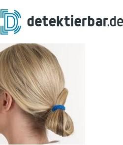 Haargummi detektierbar - detektierbares Haarband - Zopfband - blau - VE=25 Stück