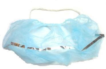 Detektierbarer Bartschutz, Einwegbartschutz , Bartmaske detektierbar PP-Vlies blau (100Stück per VE)