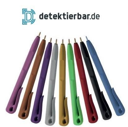 Kugelschreiber, detektierbar, Mine feststehend, Clip, Farbauswahl