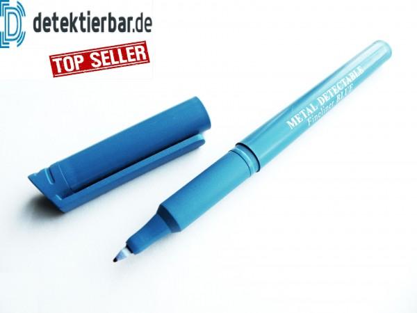 Fineliner detektierbar, permanent Marker, mit Kappe, dünn, Gehäuse: blau