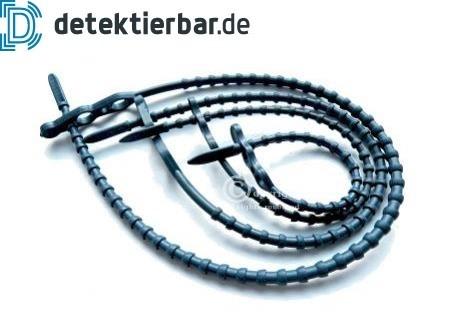 Blitzbinder Schnellbinder Kabelbinder mehrweg detektierbar 100 Stück