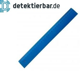 Detektierbares Lineal voll detektierbar 20cm blau