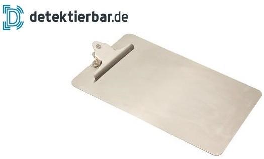 Klemmbrett / Schreibplatte aus Edelstahl detektierbar Großformat A3 Clipboard