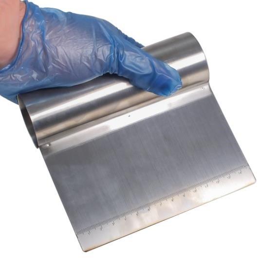 Teigschneider Teigspachtel Spachtel Schaber Schlesinger Edelstahl 15cm breit