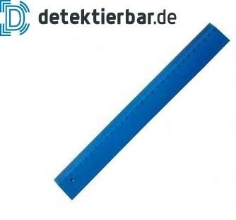 Detektierbares Lineal voll detektierbar 30cm blau