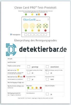 Clean Card® PRO - Test-Protokoll für Hygienetest 50er Block