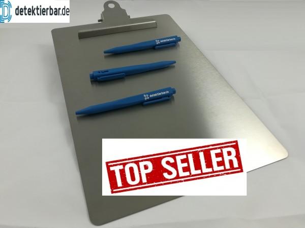 Klemmbrett / Schreibplatte aus Edelstahl detektierbar Standardformat A4 Clipboard