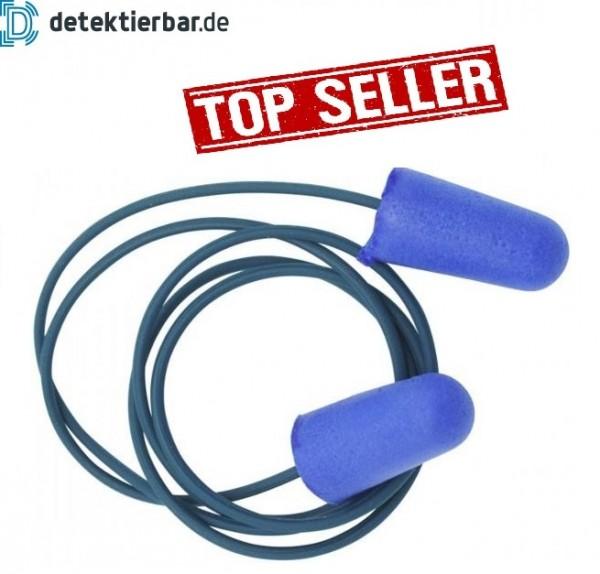 Gehörschutzstöpsel Gehörschutz blau Schaumstoff und Band detektierbar