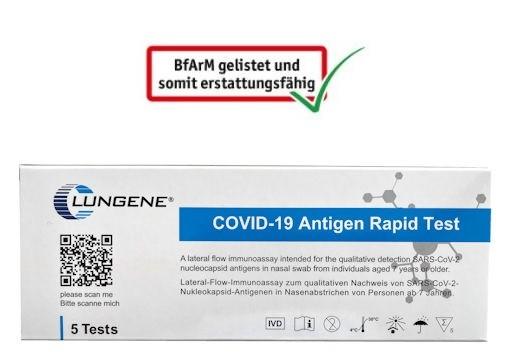 CLUNGENE 5er Verpackung Covid19 Corona Antigen-Schnelltest Laientest