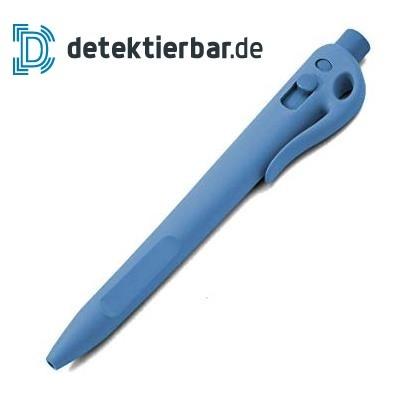 Detektierbarer Kugelschreiber Standard einziehbar mit Clip