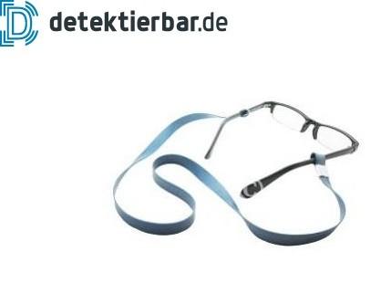 Brillenband Silikongummi detektierbar mit Metallclips an den Enden